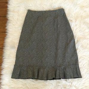 Hanna Andersson Grey Black Herringbone Skirt